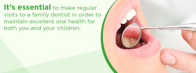 It's essential to make regular visits to a family dentist.