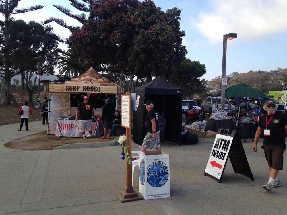 2016 Aloha Festival Ventura CA: Mobile ATM placed outdoors near the vendor row entrance.