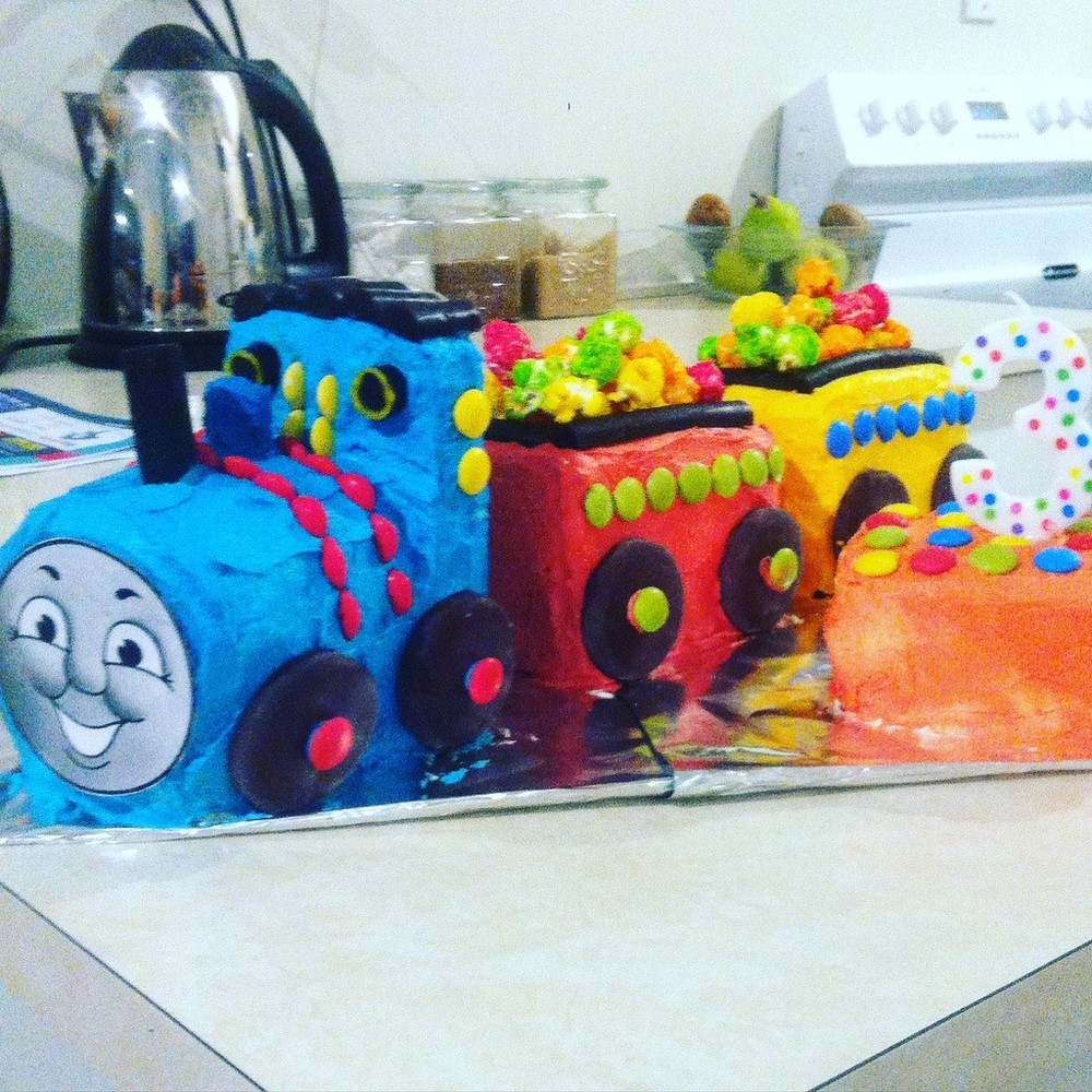 Birthday cake = sugar overload