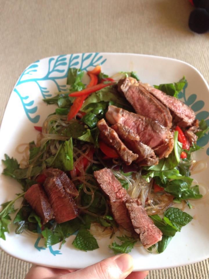 Gluten-free thai beef salad