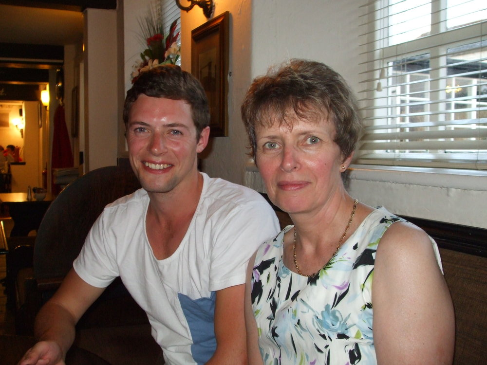 Irene and her son prior to his diagnosis.
