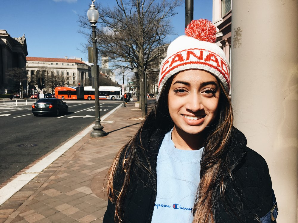 """""""Times are changing and we need more regulations on gun laws because this problem wasn't as prevalent when older people went to school. I want to vote because I want to be a part of the movement and change."""" Samreen Ali, Junior, Thomas Sprigg Wootton High School"""