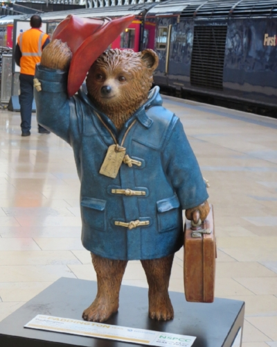 5. Michael Bond's Paddington statue.JPG
