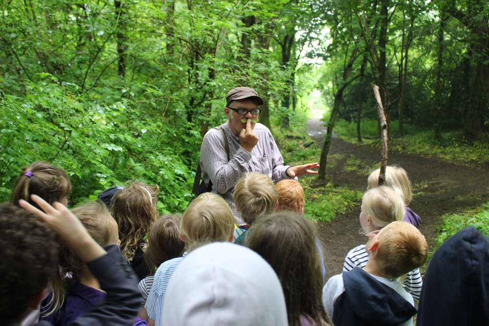 Storyteller Martin Maudsley in the woods