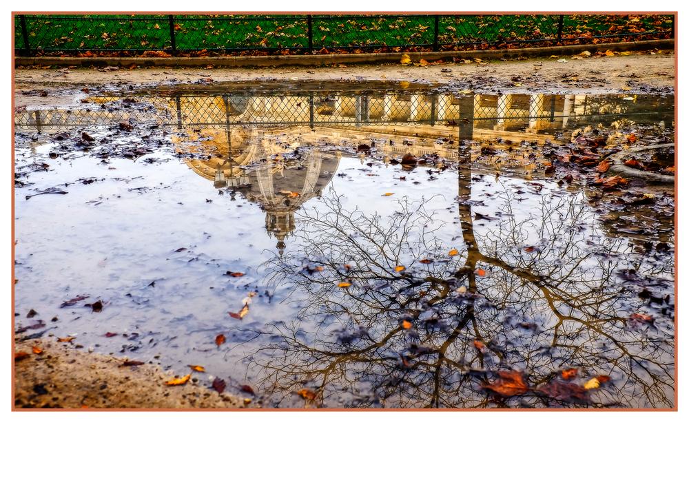 Le petit palais, reflection, Paris.