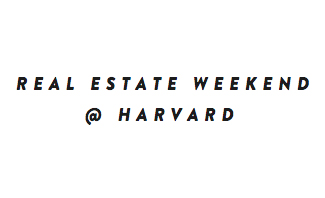 Co-chairing the  Real Estate Weekend hosted at the Harvard Business School , an annual two-day conference and venture competition.