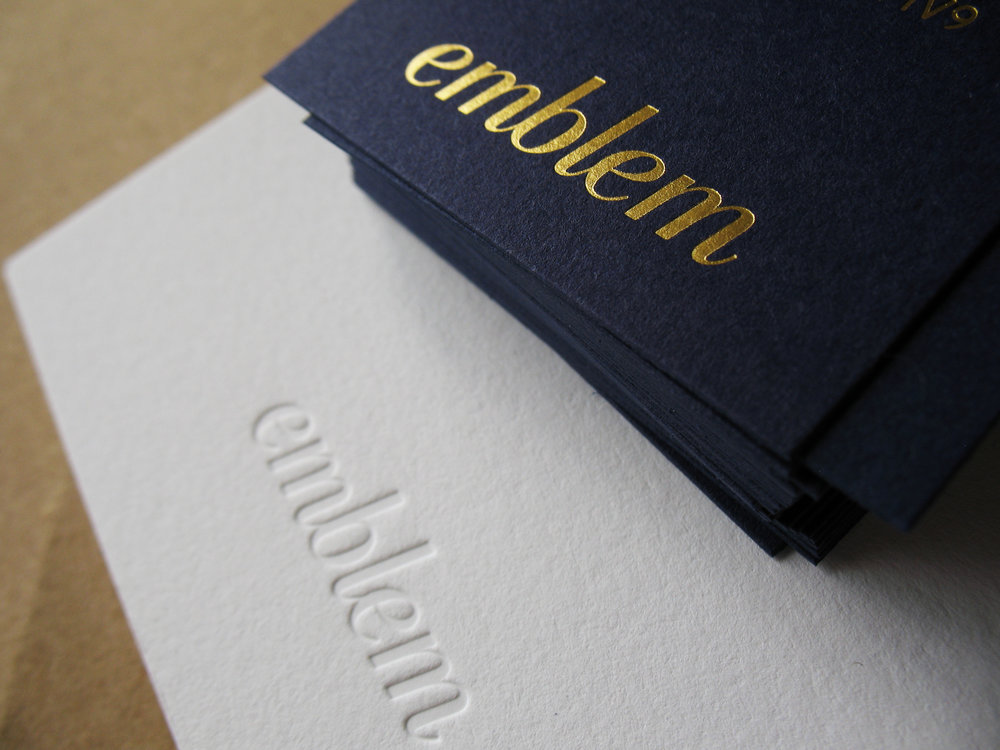 Emblem Business Card and Note Card