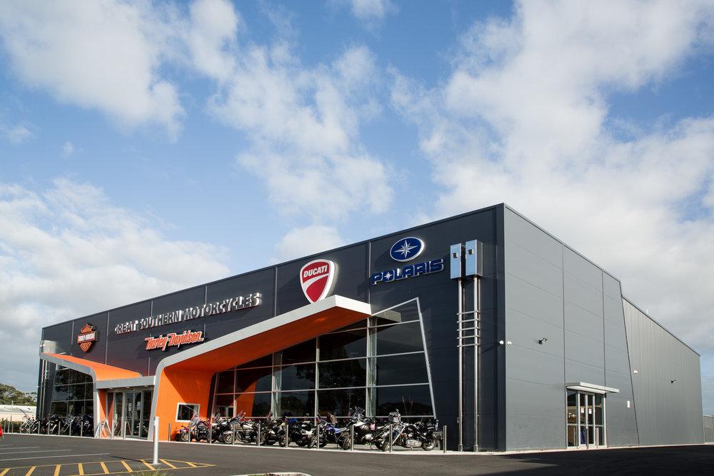 Motorcycle Showroom Workshop