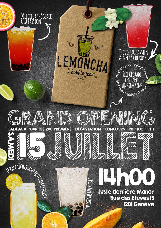 Lemoncha Grand Opening – Recto