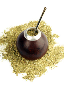 Yerba Mate dans une gourde traditionnelle