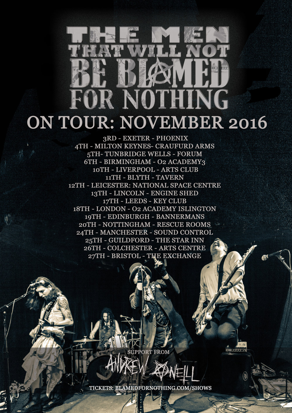 the men that will not be blamed for nothing steampunk UK tour