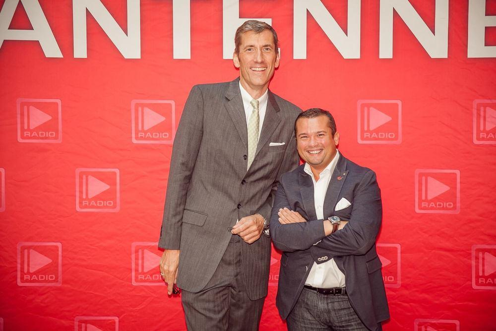 Friedrich W. Niemann mit Eike Knall bei der Antenne After Work Party im Hilton Frankfurt.