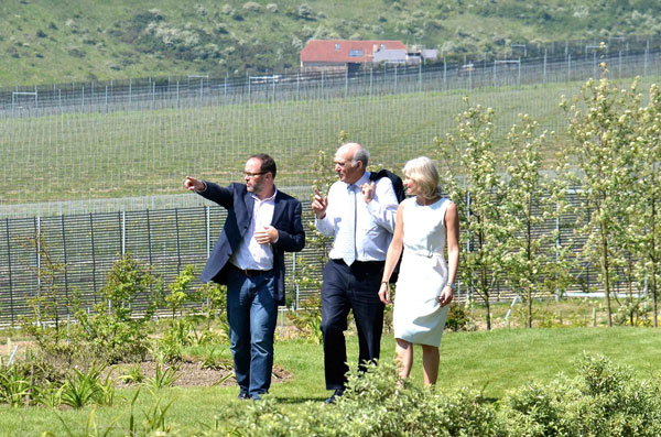 Former MP Vince Cable on a visit to the Rathfinny wine estate with Mark and Sarah Driver