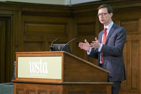 The WSTA's Miles Beale making his own conference speech in September
