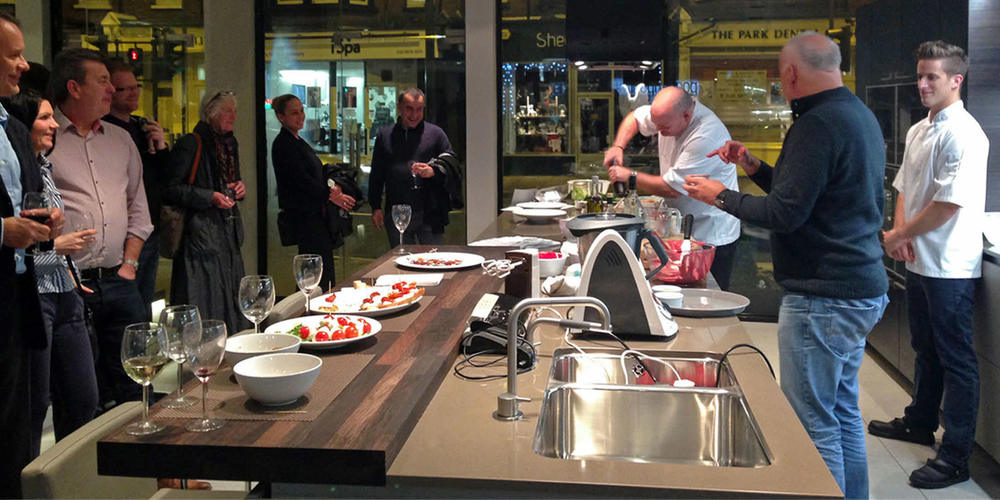 Live cooking demonstrations could be part of supermarkets in the future
