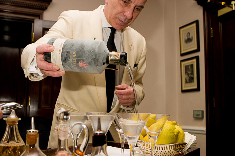 The legendary Alessandro Palazzi making the perfect martini at The Duke's Hotel in London's St James