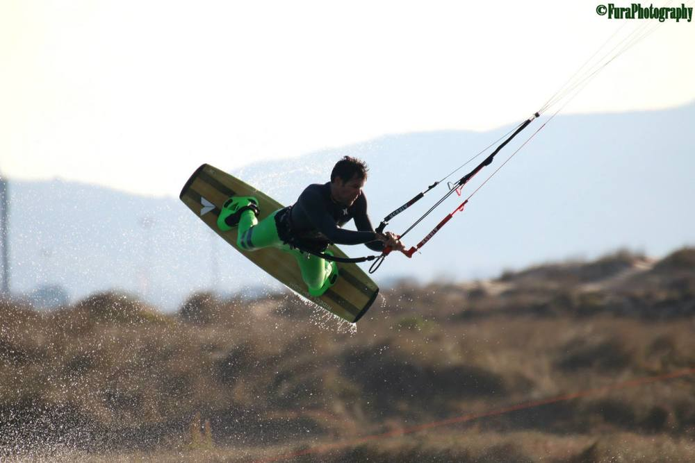 Armando Puerta | Tarifa Spain  Veteran Kiteboarder competing on the Spain Kiteboarding League.