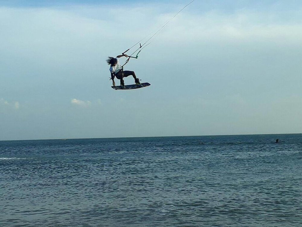 Nelson Gomez, 19 year old kiteboarder part of #TeamVividaColombia