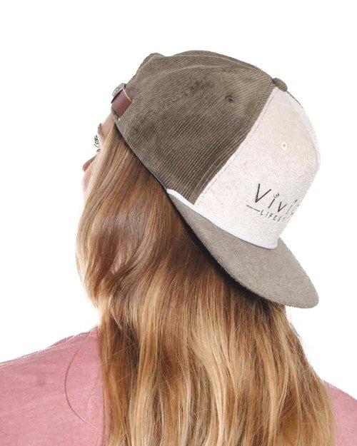 outlet store dcb36 6c72f Olive Snapback Surf Cap - Embroidered Vivida Lifestyle Logo   Vivida  Lifestyle