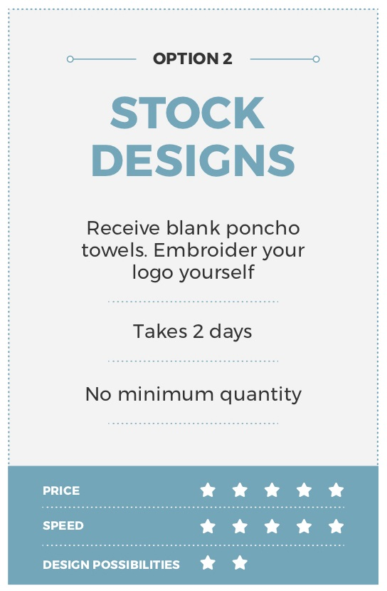 Price : £20 / Adult poncho, £18 / Baby poncho.