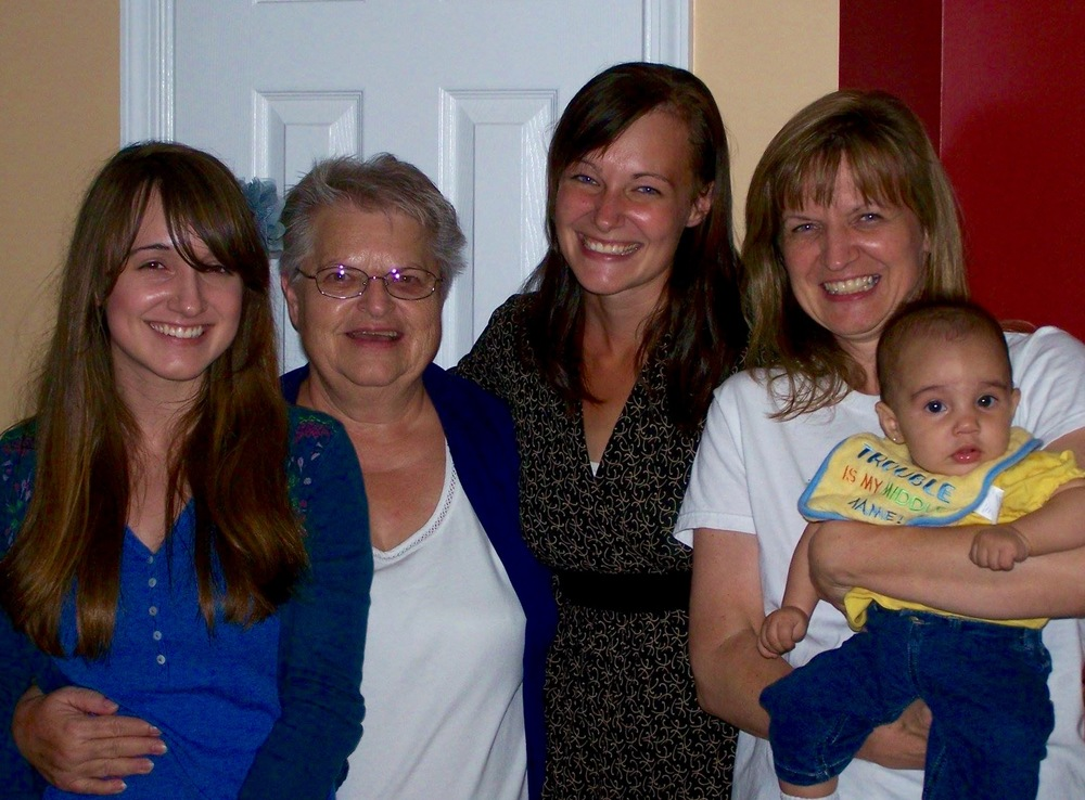 me, my grandma, my sister, my mom - who have now all been through a divorce & my niece katia (who hasn't)  Burlington, NC | July 2011