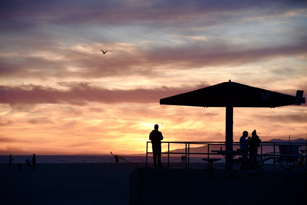 A moment of solitude amongst the craziness of Venice Beach
