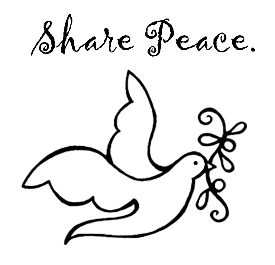 Share Peace stamp