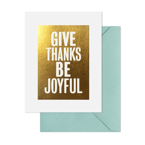 joyful thanks