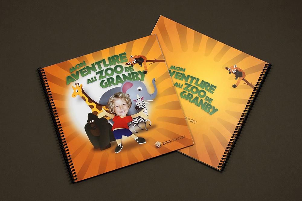 Livre personnalisé pour enfant.