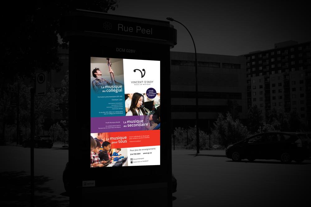 Campagne publicitaire 2014. Imprimé.