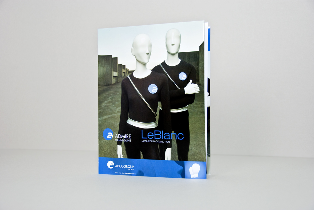 Brochure de vente, collection de mannequins LeBlanc. Imprimé.