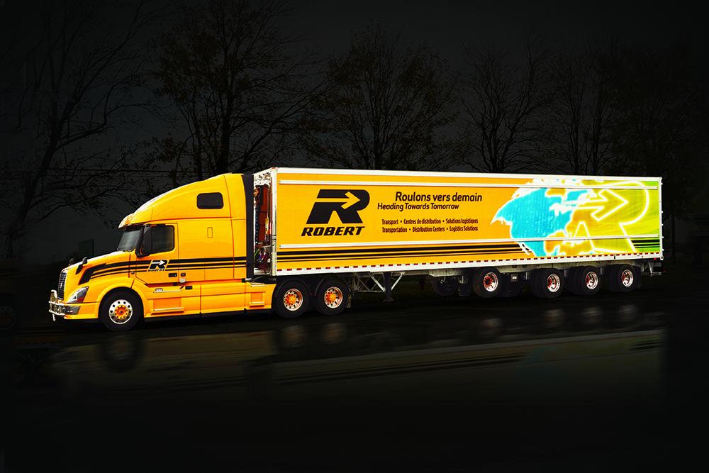 Visuel pour camion Développement durable. Imprimé.