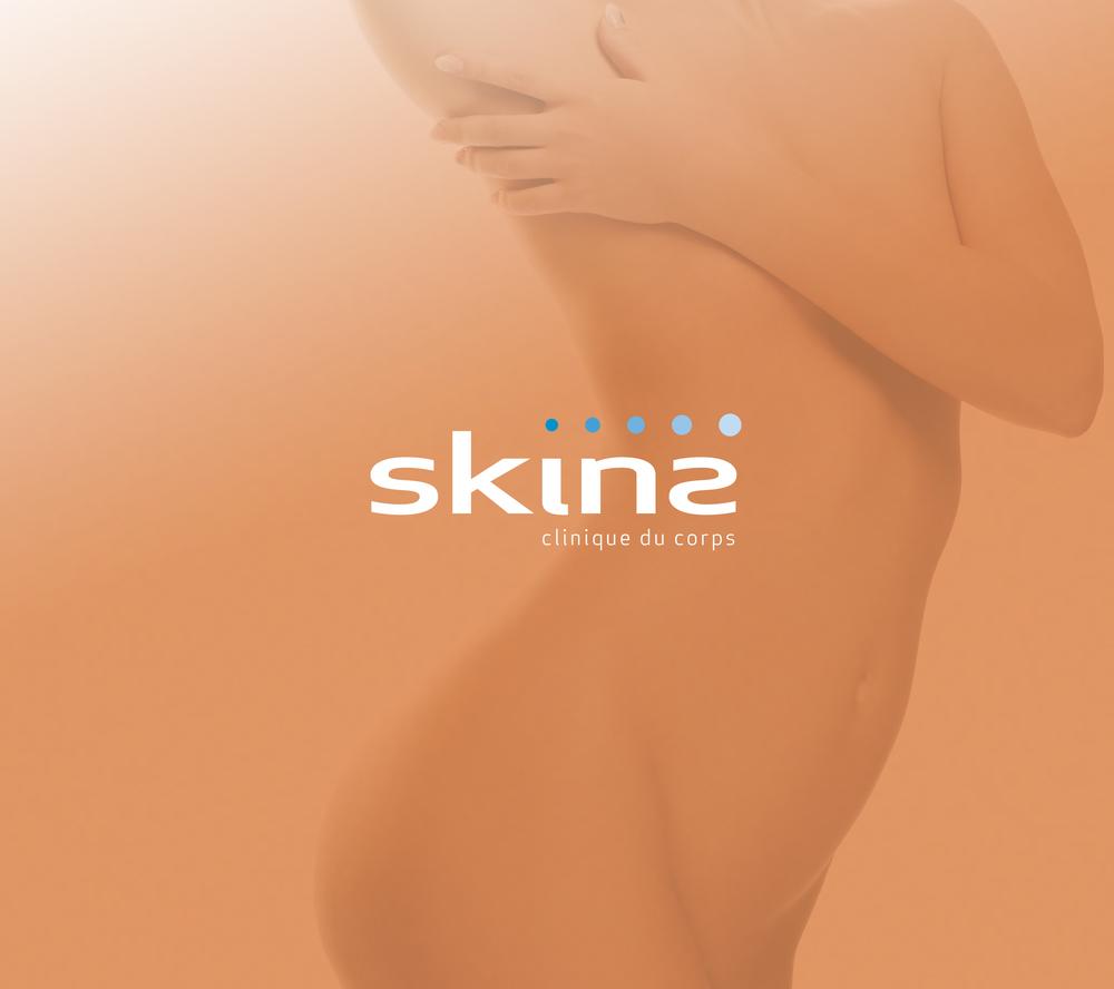 Skins, clinique du corps. Identité de marque.