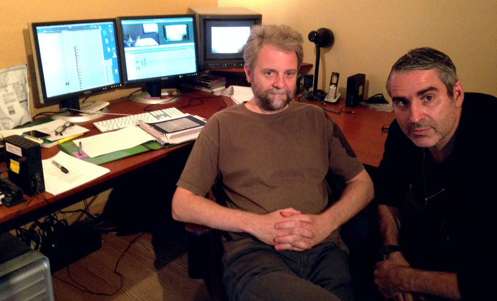 L-R Editor Lawrence Jackman and Louie Palu in the edit suite in Toronto. ©Louie Palu