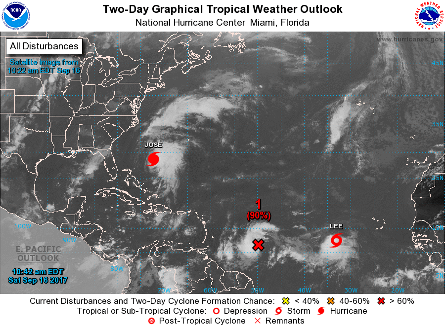 Atlantic Basin full of tropical systems   http://www.nhc.noaa.gov/