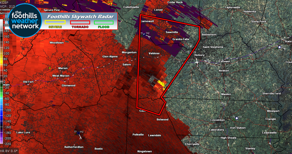 Doppler Radar Velocity Image (5:26 pm)