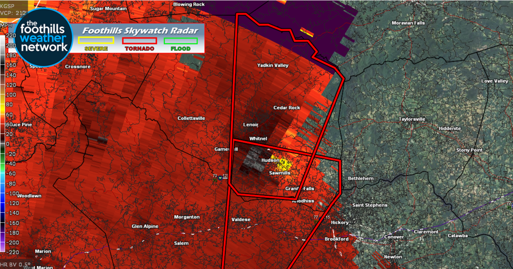 Doppler Radar Velocity Images (5:58 pm)