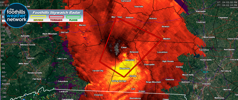 Doppler Radar Velocity Image (4:03 pm)
