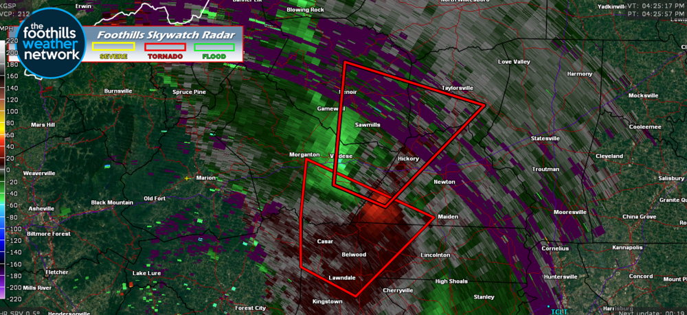 Doppler Radar Velocity Images 4:25 pm