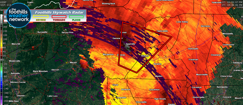 Doppler Radar Velocity Images (4:35 pm)