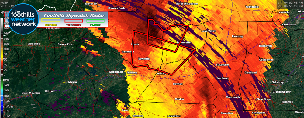 Doppler Radar Velocity Images (4:52 pm)