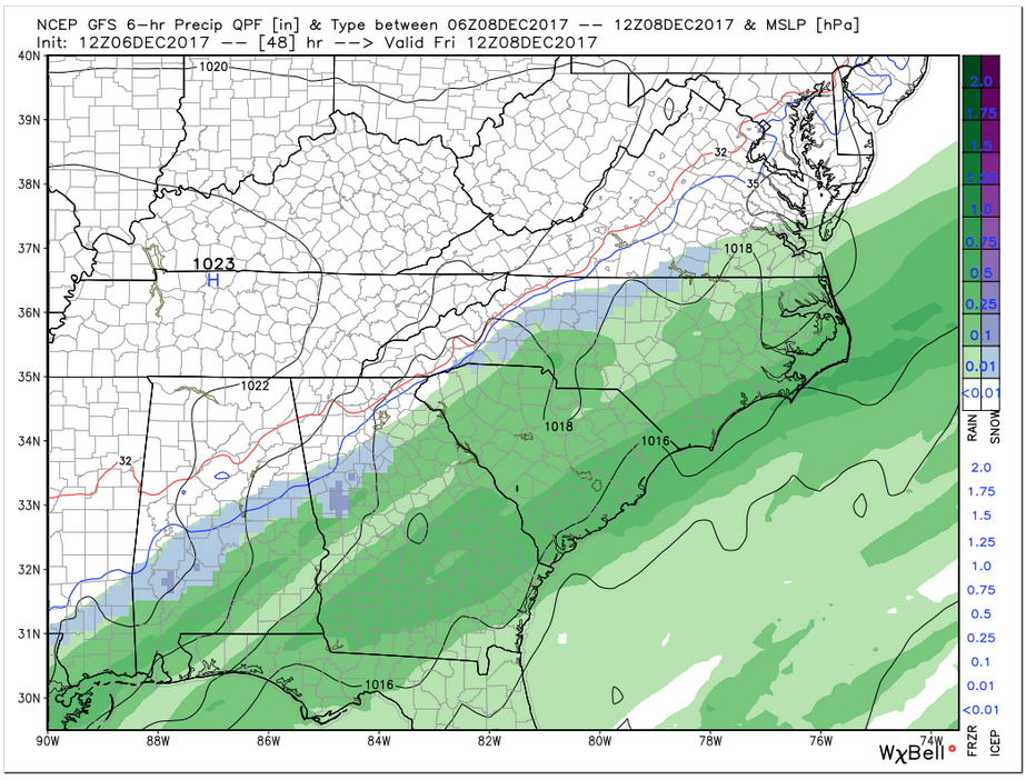 GFS Precip (Friday 7 am)