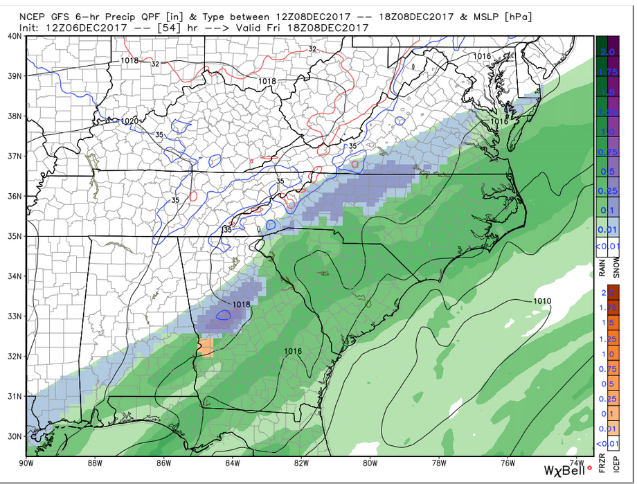 GFS Precip (Friday 1 pm)