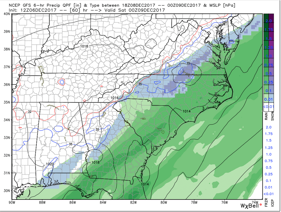 GFS Precip (Friday 7 pm)