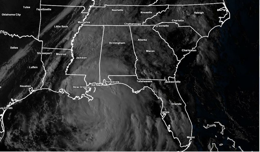 Hurricane Nate is it made landfall along the Gulf Coast (October 7th)