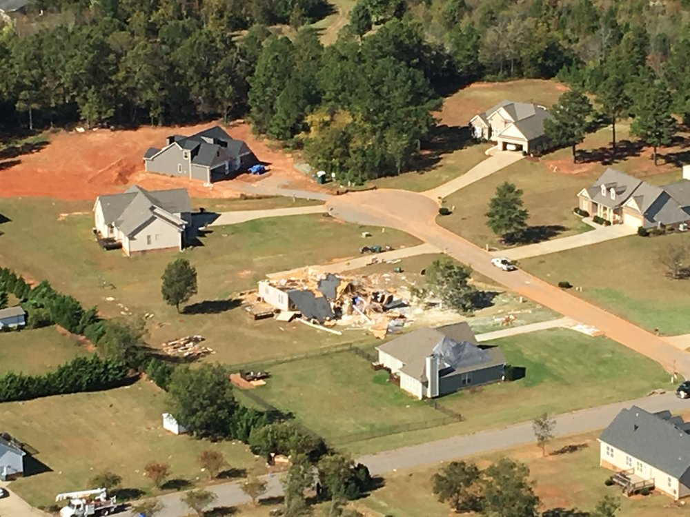 Tornado damage of a home in Cleveland County (October 23rd)