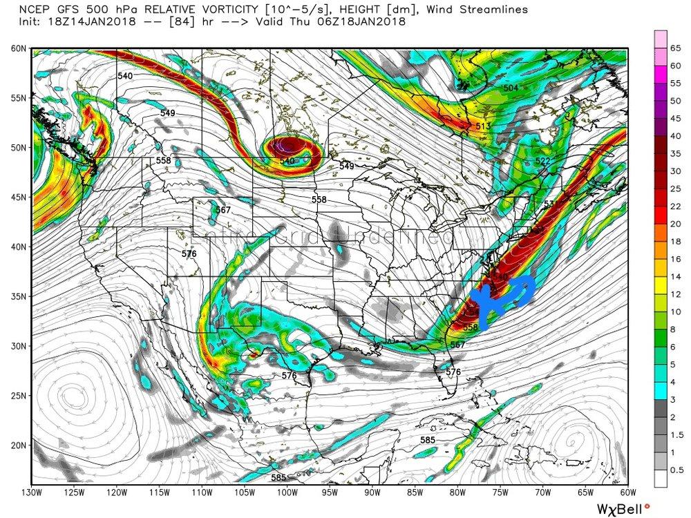 Upper air pattern Thursday 1am