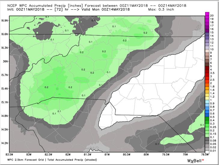 WPC Projected Precipitation (Through Sunday Evening)