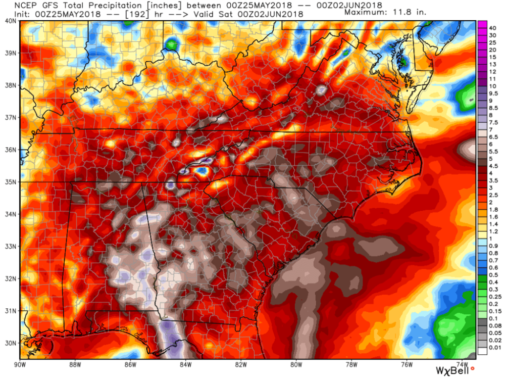GFS (American) Deterministic 7-day Precipitation