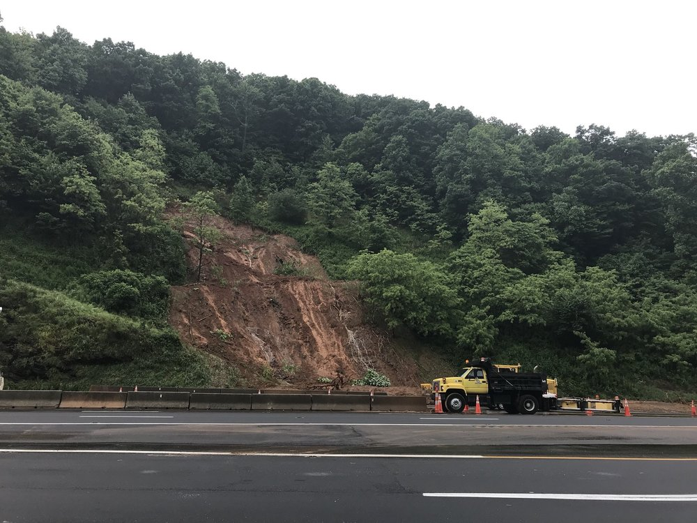 Landslide, Old Fort Mtn (I-40, Near McDowell/Buncombe County Line)